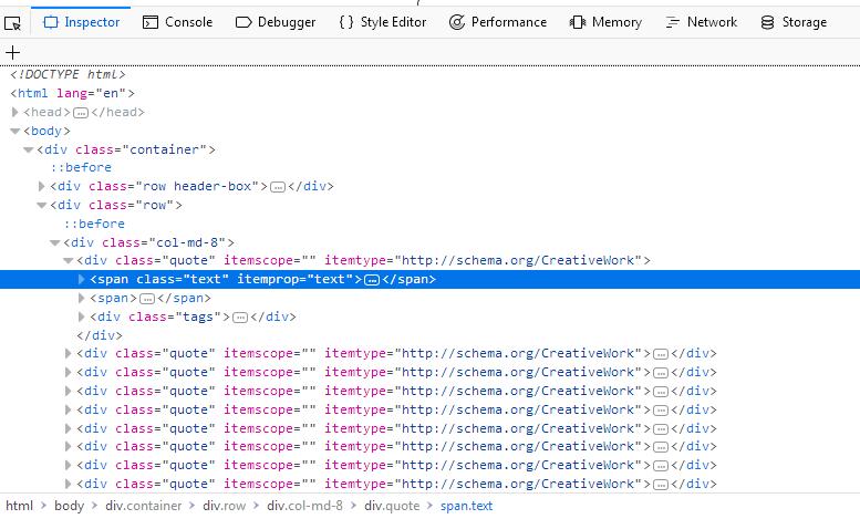 Firefox's Inspector-tool