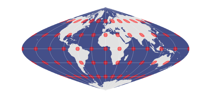 Sinusoidal Equal Area Projection1