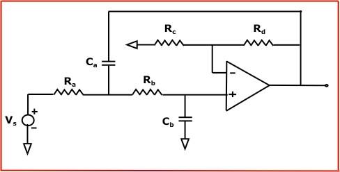 同等分量巴特沃斯有源低通滤波器计算器
